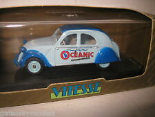 1.43 EARLY VITESSE CITROEN 2CV OCEANIC 1955 2 TONE BLUE GREAT MODEL CAR