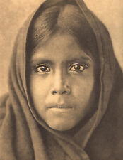 "EDWARD CURTIS Indian Tribe ""QAHATIKA GIRL"" Vintage Native American Book Print"