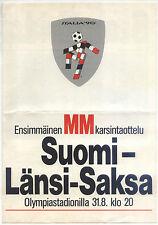 WM-Qualifikation 31.08.1988 Finnland - Deutschland in Helsinki