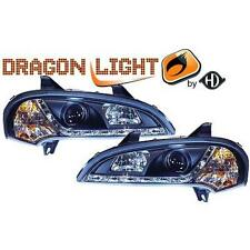 Paar leuchttürme scheinwerfer vorne TUNING OPEL TIGRA 94-00 schwarze,mit Dayline