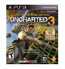 Uncharted 3: Drake's Deception  Game of the Year Edition NEW  PS3 BIN FREE SHIP