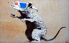 BANKSY RAT IN SHADES vinyl wall,car,van decal sticker