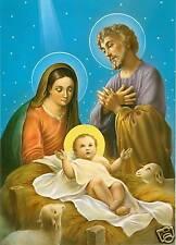 Catholic Print Picture NATIVITY Christmas Scene - ready to frame