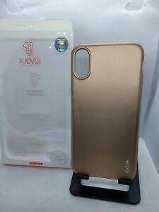 X-level iPhone X/XS Soft TPU Matte Thin Gold Case