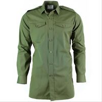 Genuine British army shirt O.D Green Military service long sleeve BDU NEW