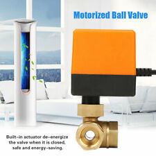 DN15 G1/2 Brass 3 Way Motorized Ball Electrical Valve for Air Conditioner DC12V