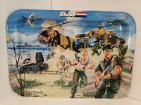 "A21 1987 Hasbro Battle GI JOE Folding Metal TV Tray 17""x 12"""