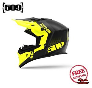 509 TACTICAL SNOWMOBILE HELMET HI-VIS YELLOW 2020 + BREATH BOX NEW DOT ECE 2205