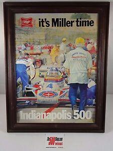 Ron Burton Miller High Life Beer Advertising 1978 Indianapolis 500 J. Rutherford