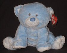 TY BABY WOODS BLUE the BEAR PLUFFIES - MINT with MINT TAG