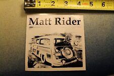 Matt Rider Woody Wagon Pig Log Photo Longboard Surfboard Vintage Surfing STICKER