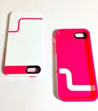 2 Cases Lot Incipio EDGE PRO Case Apple iPhone 5/5s/SE in White/Pink ,New,Bulk