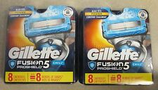 NEW Sealed Gillette Fusion PROSHIELD5 CHILL Refill 2 x 8 = 16 Cartridges