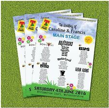 1 Wedfest Festival Rock Party Wedding A2 Wedding Table Seating Plan!