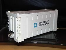 LEGO MAERSK LINE TRAIN SHIP SHIPPING CONTAINER WHITE (SQUARE BRICK)