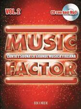 Music Factor Canta E Suona La Grande Musica Italiana - Vol.2 Cd Con Basi Mp3 Ric