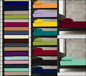 Percale Plain Dyed 25 CM Fitted Bed Sheet 180 Thread Count  Single Double King