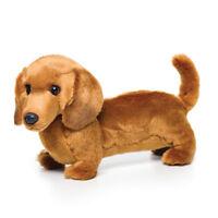 DEMDACO Nat & Jules Standing Large Dachshund Dog Childrens Plush Stuffed Animal
