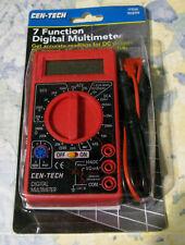 Cen Tech 7 Function Digital Multimeter 90899 Accurate Acdc Readings Nip
