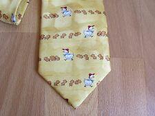 Duck & PULCINI Motivo Cravatta di seta dai legami familiari Made in England