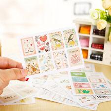New 48pcs Retro Stamp Sticker Seal Envelope Scrapbooking Diary Photo Album Decor