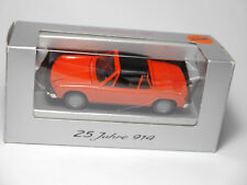 "Porsche 914 in blutorange orange rot red, GAMA ""25 JAHRE 914"" in 1:43 DEALER!"