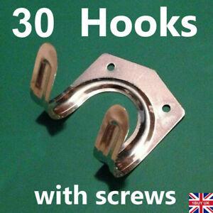 30 x Tool Hanger Hooks Set Tools Hang Garage Shed Hanging Bracket Garden Storage