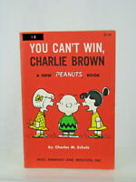 You Can't Win Charlie Brown, First Edition, By Charles M. Schulz