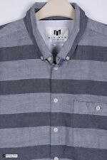 Minimum Herren Kurzärmlig Regular Fit Freizeithemd Grau Größe L Kariert