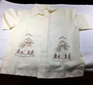 VINTAGE CHILDS 1940-50 Philippines STYLE SHIRT SIZE 6