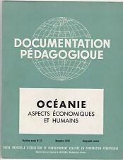 Documentation Pédagogique - N°67 - Novembre 1956  Océanie