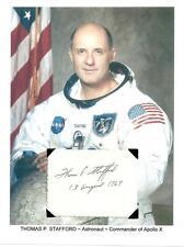 Thomas Stafford Autograph APOLLO 10 Gemini Space Astronaut Lunar Module #1