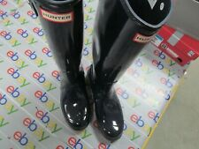 Hunter Women's Original Classic Tall Rain Boots - Rubber - Black Gloss size 10