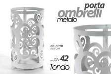 PORTA OMBRELLI IN METALLO BIANCO TONDO  22*42 CM JSD-727542