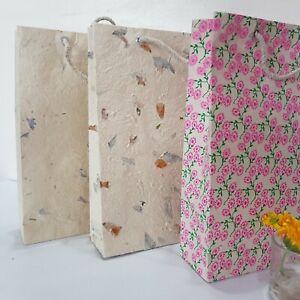 Handmade Lokta Gift Bag, Medium, Tree Free Paper, Eco Friendly & Sustainable