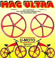 """Complete 29"""" Mag Wheels For Diy 2-Stroke 66Cc/80Cc Motorized Bicycle Kit"""