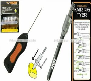 NEW Middy Fast Stop Baiting Tool + Stops + Hair Rig Knotless Tyer Carp Rig Tool