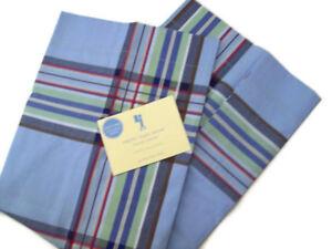 Pottery Barn Kids Multi Colors Cotton Preppy Plaid Standard Pillow Cover Sham