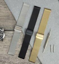 Steel Milanese Mesh Watch Bracelet Strap Band | Black Silver Gold 14/18/20/22mm