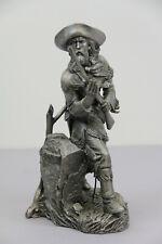"Jim Ponter Silent Foe Franklin Mint Pewter 1987 Western Heritage Museum 10"""
