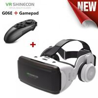 VR Virtual Reality 3D Glasses Headset Google Helmet for 4.7-6.0'' +052 Gamepad t