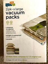 XL Garment Vacuum-Packs Bags Closet Organization Storage 2-Pack NEW Extra Large