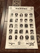 The Brotherhood of Eternal Love Wanted 1972 Poster Copy HAND Signed by 3 members
