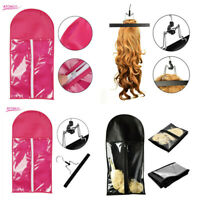 Wig Hangers Hair Extension Carrier Storage Case Wig Stands Dust Proof Bag 3Types