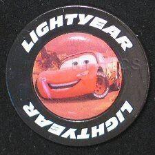 Disney Pin: Disney Store - Cars - Lightning McQueen in Lightyear Tire