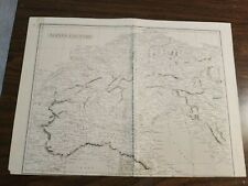 Map-Original 1811 map of Alpine Country in Europe in Ancient times