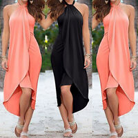 Women Boho Chiffon Party Beach Dresses Long Maxi Dress Fashion