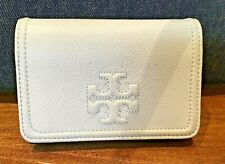 Tory Burch Thea Pebbled Leather Sky Blue Fold Wallet Authentic Aussie Stock