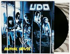 UDO DIRKSCHNEIDER ACCEPT SIGNED ANIMAL HOUSE VINYL LP RECORD ALBUM  + COA