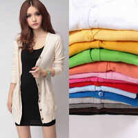 Women Casual Loose Long Sleeve Knitted Sweater Tops.Cardigan Outwear Coat Jacket